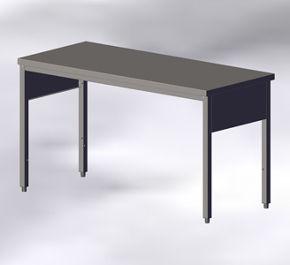 Tables: Without Wall-side Panel and Bottom Shelf
