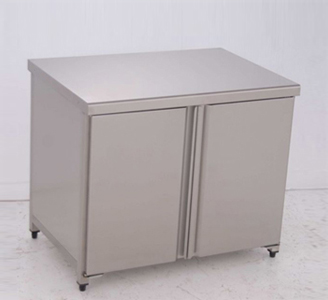 Cupboard-Tables: With Hinged Doors, without Wall-side Panel