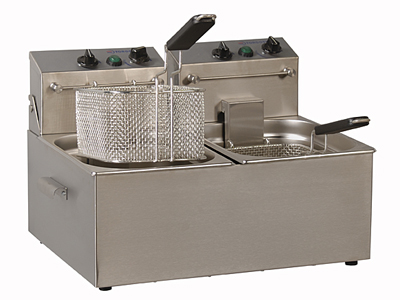 Electric Table Top Deep Fat Fryer with 2 Tanks