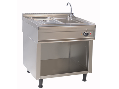 Electric Bain-Marie with an Open Cupboard