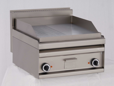 Gas Table Top Grill with 1/2 Riffled Hot Plate