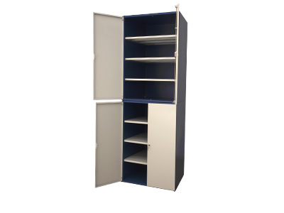 Two levels cabinet with 4 shelves each