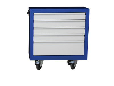 Mobile rollers cabinet with 5 drawers