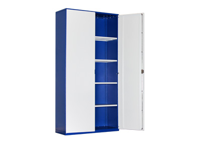 Metal storage for documents with 2 doors and 4 shelves